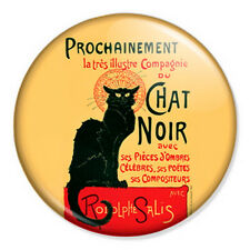 "Le Chat Noir 25mm 1"" Pin Badge Button Paris France Vintage Retro Art"