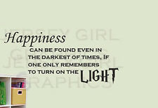 HARRY POTTER DUMBLEDORE HAPPINESS VINYL DECAL STICKER WALL LOVE QUOTE MAGIC