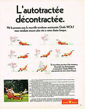 PUBLICITE  1971   OUTILS  WOLF   tondeuse autotractée