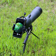 Waterproof Angled 20-60x60 Zoom Spotting Scope+ Cell Phone Adapter Mount+Tripod