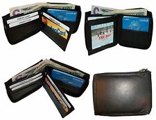 Men's Zip around wallet. Leather wallet Center piece 9 credit card ID 2 Billfold