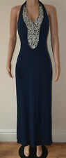 VICKY MARTIN blue miss diamante MAXI wedding lipsy next dress sixty 8 10 sequin