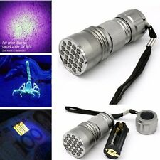 21 LED UV Flashlight Torch Ultra Violet Blacklight Detection Lighting Aluminium