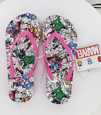 New Women's Marvel Comics Flip Flops - The Avengers - Pink - Size 5