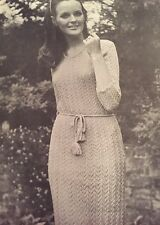 Vintage Knitting Pattern - Lady's Delicate 4-ply 'Lace' Wool Dress - 34-40""