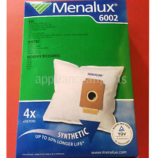 NEW MENALUX VACUUM BAGS E10, IMETEC, MORPHY RICHARDS - 4 BAGS + FILTERS - 6002