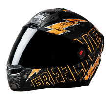Steelbird Helmet - SBA 1 FREE LIVE Matt Black with Orange