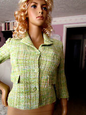 Missoni Women's Green Top Blazer Jacket Size 6 Authentic  Made in Italy