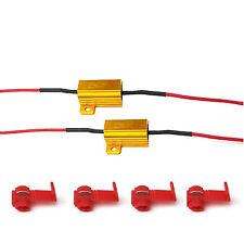 2pcs LED Load Resistors 25W 10 ohm Gold Turn Signal Blinker Fix Bulb Hyper Flash
