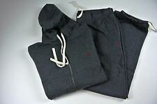 Polo Ralph Lauren Classic Fleece Top & Bottom Set Hoodie & Pants Sz LARGE ONYX
