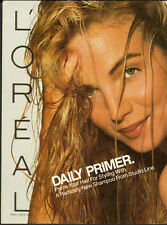 1989 Print ad for LOREAL/Studio Line Shampoo/Sexy Model-2 pages (060613)