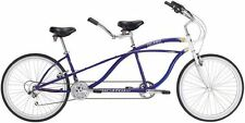 New  21 Speed Tandem Beach Cruiser Bike Bicycle Blue