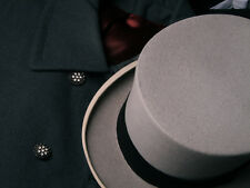 Top Hat from Lock & Co. Hatters, London (Rare Gray Felt - Drab Shell) Pristine