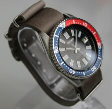 SEIKO 7002-700A Vintage Dive Watch Classic 6217 Diashock Automatic Leather Pepsi