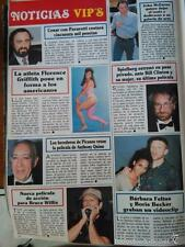 RECORTE JOHN MCENROE PAVAROTTI LUCIANO FLORENCE GRIFFITH STEVEN SPIELBERG BRUCE