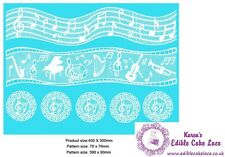 Cake Lace Mat - Musical Note  - Ideal Cakes and Cupcakes Craft