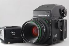 [Exc+++] Zenza Bronica ETRS w/ AE II Finder & 120 Film & 75mm Lens from Japan