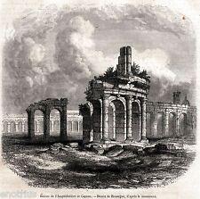 Santa Maria Capua Vetere: Anfiteatro campano.Terra di Lavoro. Stampa Antica.1861