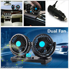 DC 12V  Hot Sale Dual Fan 360° Mini  Auto Car Air Cooling Fan Cooler Adjustable
