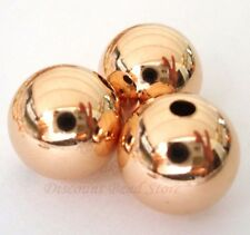 2x 12mm 14k ROSE gold filled round seamless bead spacer high polish shiny RB12