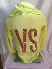 VICTORIAS SECRET SUPERMODEL ESSENTIALS YELLOW GOLD BLING HOODIE SMALL NEW