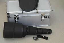 EXC+ NIKON NIKKOR 600mm F4 ED IF AI-S MANUAL FOCUS TELEPHOTO LENS, UV, CASE+