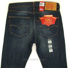 Levis 501 CT Jeans Mens Size 33 x 34 DARK BLUE W/ FADE Button Fly Tapered Leg