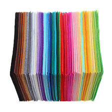 Trendy 15 x 15cm Fabric 1mm Thickness Polyester Felt Bundle For Sewing Dolls 40X