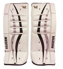 New Vaughn 700 Goal ice hockey leg pads 22 Black/Silver Velocity V6 youth goalie