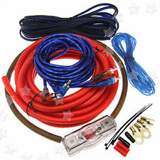 2500W Real Car Amplifier RCA Sound 100A AGU Fuse 4 Gauge Wiring Cable Kit Z07 UK