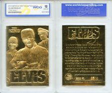 """2010 ELVIS PRESLEY """"The King"""" 23KT GOLD CARD * GRADED GEM-MINT 10 *"""