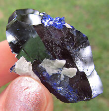 Beautiful Huge Royal Blue Black Azurite Crystal From Milpillas Mexico