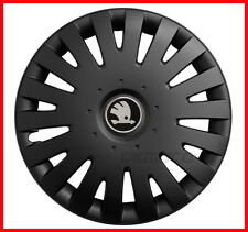 "4 x15"" Wheel trims fit Skoda Octavia Fabia - 15'' black matt"