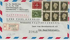 62273 -  SURINAME - POSTAL HISTORY - REGISTERED AIRMAIL COVER to HOLLAND 1947