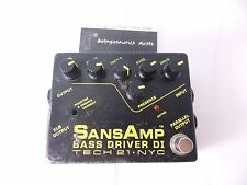 SANSAMP BASS DRIVER DI EFFECTS PEDAL TECH 21 NYC PREAMP DIRECT BOX EQ FREE SHIP