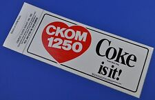 COCA COLA COKE ADESIVO USA 1982 sticker decal-cuore US radio station ckom