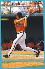 Cal Ripken's 2000th Game Postmarked Postcard: Swinging Bat Orange Shirt