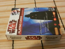 CARD GAME: Star Wars Playing+Famous Quotes 2009 Darth Vader Luke Yoda Leia Jedi