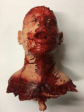 Realistic Bloody Severed Cut Off Head Neck Bones Ribs Latex Halloween Movie Prop