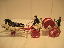 A-2 VINTAGE CAST IRON HORSE DRAWN FIREMEN HOSE WAGON TRUCK HORSE BELL