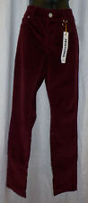 "Maurices Corduroy Size S NWT Burgundy Stretch Ins 32"" Cotton Blend Straight  $36"