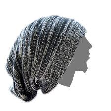 Black-White Rasta Dread Dreadlocks Tam Hat Beret Cap Reggae Marley Jamaica M/L