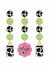 Baby Shower Party Supplies Cow print girl decorations Hanging cutouts-3ct.