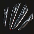 4Pcs Black Carbon Fiber Car Side Door Edge Protection Guards Trims Stickers