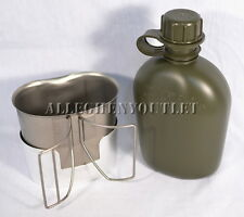 USGI Military SET 1 QT CANTEEN, Stainless Steel Butterfly CUP, STOVE / STAND NEW