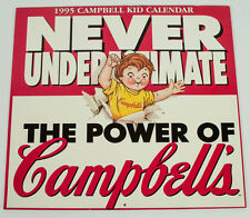 NEVER USED 1995 CAMPBELL KID CALENDAR CAMPBELLS SOUP 12 MONTH W/ 6 POST CARDS