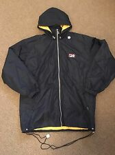Vintage 90s Fila Rain Jacket Coat Windbreaker Small Navy