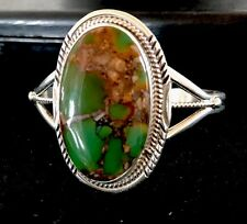 Native American Sterling Silver Royston Turquoise Bracelet Signed P Yazzie