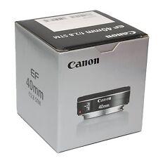 Canon EF 40mm f/2.8 STM Pancake Lens for Canon T3i T4i T5i 60D 70D 6D New