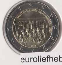 "Malta      2 Euro Commemorative  2012    ""Majority Representation –1887"""